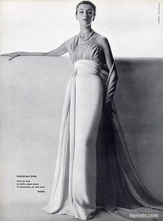 Christian Dior 1953 Evening Gown, Photo Guy Arsac, Hurel