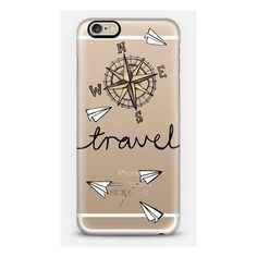 iPhone 6 Plus/6/5/5s/5c Case - Travel + Compass + Paper Planes on... (950 CZK) ❤ liked on Polyvore featuring accessories and tech accessories