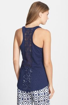 PJ Salvage Crochet Back Jersey Tank available at #Nordstrom