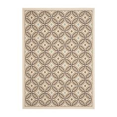 Safavieh VERS047A-6 Veranda Circle Quilt Cream/Chocolate Outdoor Rug