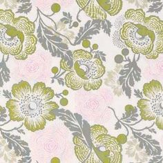 Amy Butler - Midwest Modern 1 and 2 - Fresh Poppies in Linen. Curtains for Office -EMG-