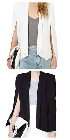 I'm in love with my cape/blazers!  They are perfect for the Florida weather.  from Nasty Gal