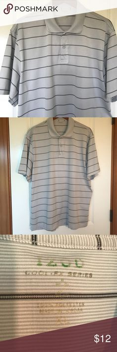 Izod polo shirt Men's Izod polo shirt. Size XL. 100% Polyester. Good condition except for one small mark on the back. (See photo) Izod Shirts Polos
