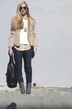 Joanna Hillman at Fashion Week