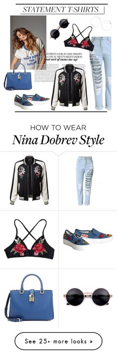 """""""Untitled #180"""" by antilope1 on Polyvore featuring White Label, Alice + Olivia, LE3NO and Dolce&Gabbana"""