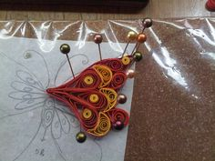 Just Love Crafts: A Quilled Butterfly Embellishment - Steps-by-step instructions too..