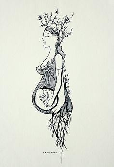 Fertilidade, ilustração de Carol Burgo #sagradofeminino