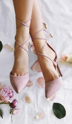 These dusty rose lace-up heels were made for walking… down the aisle in style! These dusty rose lace-up heels were made for walking… down the aisle in style! Prom Shoes, Wedding Shoes, Rose Wedding, Bridal Shoes, Spring Wedding, Wedding High Heels, Peacock Wedding, Wedding Music, Cute Shoes