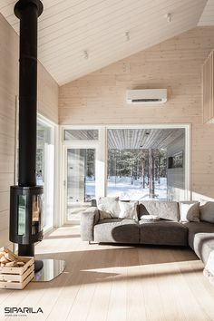 We are in love with this beautiful Scandinavian home Scandinavian Home, Windows, Wood, Interior, Beautiful, Woodwind Instrument, Indoor, Timber Wood, Trees