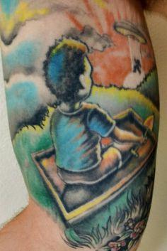 My tattoo #ufo #tattoo #oldtattoo
