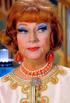 Agnes Moorehead as Endora in 'Bewitched'. As a kid I always wondered why she was so ugly and Sam was so pretty.