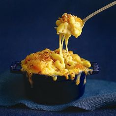 Macaroni and cheese with rosted butternut squash.