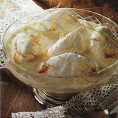 "Oeufs à la Neige ~ ""Eggs in the snow"" is one of the most ingenious of classical French desserts"