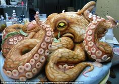 Giant Octopus with Tentacles Cake by Karen Portaleo of the Highland Bakery, Atlanta, Georgia
