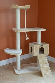 A5801 Armarkat Cat Tree Model Beige Classic 58in ARMR. Online Pet Supplies Cat SuppliesCat Tree CondoCat ScratcherScratching PostCondosCat ...