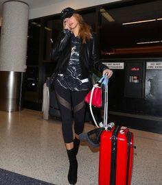 Haley Baldwin's Airport style