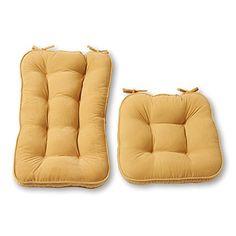 Greendale Home Fashions Jumbo Rocking Chair Cushion Set Hyatt fabric, Cream