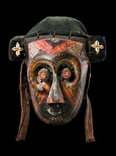 "Africa | Mask ""pwoom itok"" from the Kuba people of DR Congo 