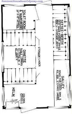 Pontoon Boat Floor Plans on Houseboat Layout Plans