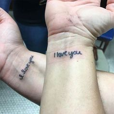 Mother Daughter Handwriting Wrist Tattoo
