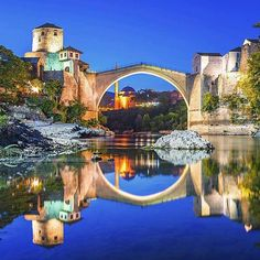 """Spectacular Mostar Bridge Bosnia & Herzegovina - what a beautiful place to jus be."