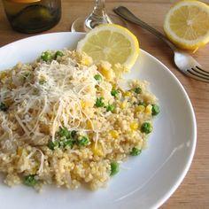 Cupboard Cleansing-Corn Broth Quinoa Risotto
