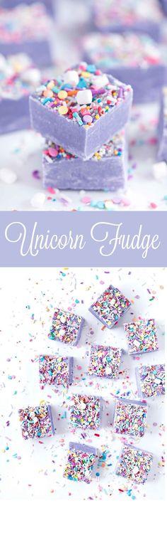 Unicorn Fudge   Sprinkles for Breakfast