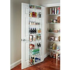 Over door spice rack back of pantry storage the organizer cabinet wall mount kitchen d . over door spice rack Kitchen Pantry Storage, Pantry Organization, Kitchen Shelves, Kitchen Dining, Studio Organization, Pantry Shelving, Pantry Door Organizer, Pantry Rack, Bar Kitchen