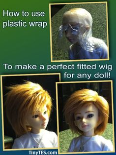 How to make a custom wig to fit your BJD or any doll. Tutorial with lots of pictures!