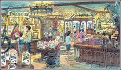 Harry Potter shop, The Wizarding World of Harry Potter, Islands of Adventure, Universal Orlando (early concept)