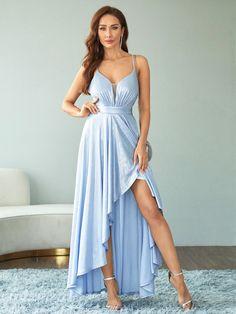 Crisscross Back Wrap Cami Dress | SHEIN USA
