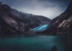 Deep Blue Glacier (Nigardsbreen Norway) [OC]...