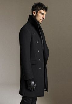 love long dark coats on men ...