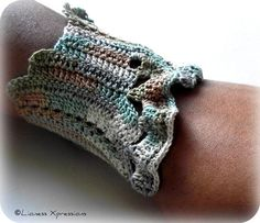 ON SALE Natural Earth Tone Ruffle Crochet by LionessXpressions, $22.50
