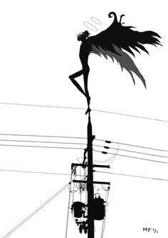 イラスト画「烏(1/1)」[福冨 ひとし]   ART-Meter