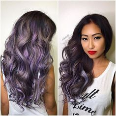 Smoke 💨 this was a #b3 transformation!! Taking her from all black hair to this silvery smokey lavender took 2 appointments and three lightening sessions with @brazilianbondbuilder in every single step! I used all @schwarzkopfusa for these smokey tones and custom colored @vpfashion extensions to match 👌🏼 silver is not easy, but if you are patient and persistent, it can be done! #btcmorningquickie #behindthechair #americansalon #hotonbeauty #modernsalon #behindthechair