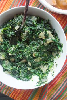 Creamed Spinach by M