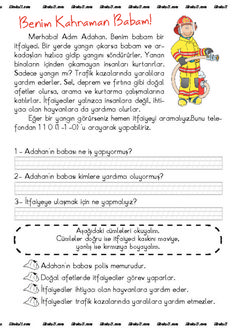 thumbnail of itfaiyeci2 Turkish Lessons, Learn Turkish Language, Baby List, Reading Passages, Primary School, First Grade, Activities For Kids, Drama, Clip Art
