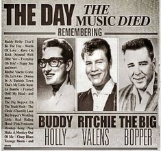 """""""It's been 60 years since the day the music died. Imagine if Buddy Holly, Ritchie Valens and the Big Bopper hadn't tragically passed away that day. I Love Music, Kinds Of Music, American Pie, American History, Ritchie Valens, The Third Man, Newspaper Headlines, Buddy Holly, Music Icon"""
