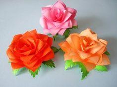 Papierrosen selber falten / D.I.Y. paper roses - YouTube