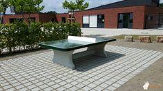 Pingpongtafel Afgerond Groen bij BV: LEO Pflasterfläche KST 33001 in Dorsten