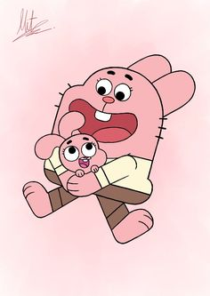 Richard and Anais from the Amazing World of Gumball. Richard and Anais Cartoon Icons, Cartoon Movies, Cartoon Drawings, Cute Drawings, Amazing Gumball, Arabic Alphabet For Kids, Old School Cartoons, Family Theme, World Of Gumball