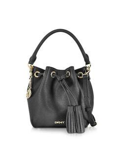 DKNY Bryant Park Saffiano Leather Mini Bucket Bag