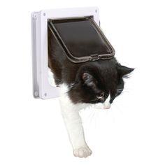 Elegant Fypo Cat Flaps, Pet Supplies Locking Kitten Brown Door Kit For Small  Animals (4 Way Lockable, Large Size 9.25u0027 X 9.8u0027 X 1.1u0027, Telescopic Frame,  ...