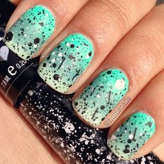 Ombre Nails with added sparkle!