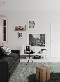 Encuentra las mejores ideas e inspiración para el hogar. Sala Blanco & Negro por VM Rendering | homify