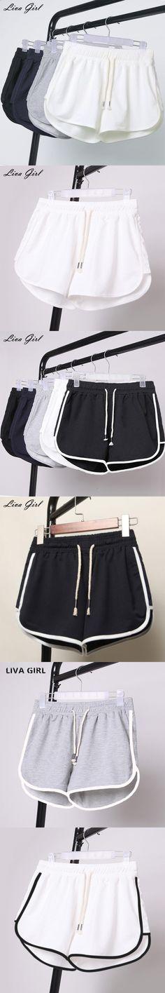 Liva Girl Shorts Women Summer Shorts for Women Plus Size Female Elastic Waist Shots Pantalones Cortos Mujer YP70616