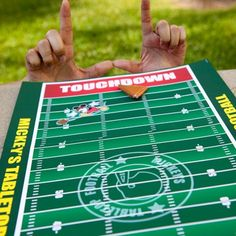 Mickey's Tabletop Football Take the field with Mickey Mouse and go for a tabletop touchdown with this fun football game. #DIY #tips #ideas
