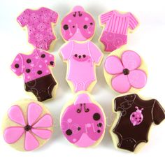 pink and brown onesies, ladybirds and flowers . . . too cute!!