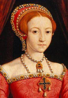 William Scrots Detail Princess Elizabeth 1.......